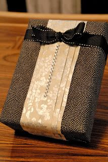 ..Gift wrapping idea - Wrap your gift like a shirt and tie #gift wrap #emballage cadeau