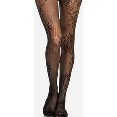 Scrolling Sides Fishnet Stocking (315 RUB) ❤ liked on Polyvore featuring intimates, hosiery, tights, socks, leggings, accessories, bottoms, black, fishnet pantyhose and black hosiery