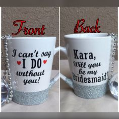 What a great way to ask someone to be in your wedding! You can ask bridesmaids, a maid of honor, a matron of honor, a flower girl, or anyone else