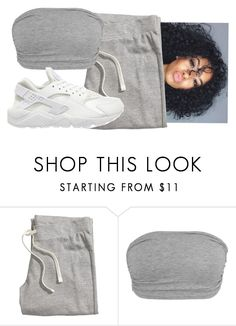 """""""mh at r"""" by gvlden-bvbx ❤ liked on Polyvore featuring H&M and NIKE"""