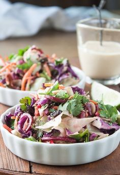 #Recipe: Cabbage Slaw with Ginger-Tahini Dressing