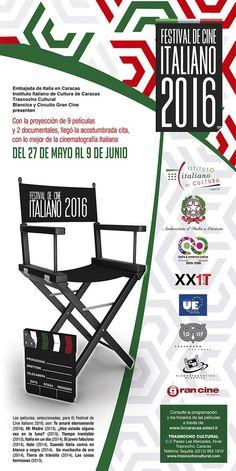 Del 27 de mayo al 9 de junio, en el Trasnocho Cultural LISTO EL FESTIVAL DE CINE ITALIANO 2016 Con la proyección de 9 películas y 2 documentales, llegó la acostumbrada cita, con lo mejor de la cinematografía Italiana, gracias a la Embajada de Italia, el Instituto Italiano de Cultura de Caracas y la Fundación …