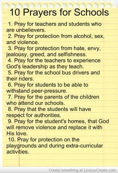 10 Prayers for Schools