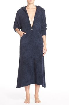 Barefoot Dreams® CozyChic® Hooded Zip Robe available at #Nordstrom
