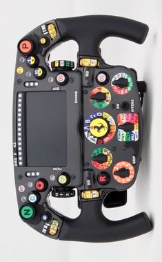 ‪ ‬ : The evolution of Scuderia Ferrari's and full size steering wheel replica's from Amalgam. Car Wheels, Steering Wheels, Gaming Pc Build, Aircraft Interiors, F1 2017, Racing Simulator, Formula 1 Car, Ferrari F1, Mechanical Design