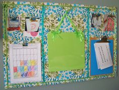 quilted corkboard organization