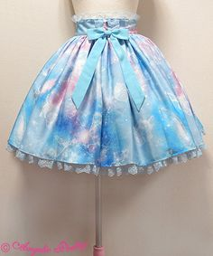 Dreamy Planetarium skirt - sax blue | #AngelicPretty #AP #Skirt