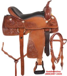 SaddleOnline is your one stop online store to buy American saddles ranging from classic trail and ranch saddles to exquisite show saddles. Western Saddles For Sale, Western Horse Saddles, Leather Tooling, Tooled Leather, Trail Saddle, Cowboy Gear, Western Pleasure, Headstall, Trail Riding