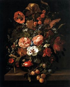 Still Life with Flowers and Fruit by Rachael Ruysch