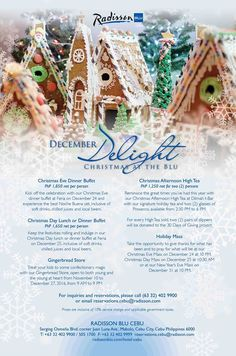It's the season of joy and dazzling revelry. Here are ways to celebrate December Delight only at Radisson Blu Cebu.