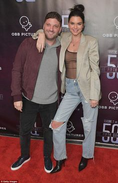 Going solo: Kendall Jenner didn't pose alongside Blake Griffin at the premiere of The 5th Quarter in Beverly Hills on Wednesday, making separate arrivalsr