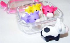Cow Eraser Set