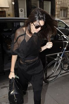 Her work is not done: Kendall Jenner was pictured heading to a studio in Paris for a shoot with Chanel designer, Karl Lagerfeld on Wednesday