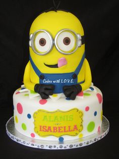 Despicable Me Minion Cake - by mycakeswithlove @ CakesDecor.com - cake decorating website