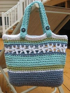 Beachside Bag, Crochet Pattern Pdf