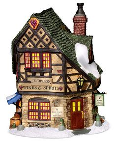 Department 56 Dickens' Village E. Tipler, Agent for Wines & Spirits Collectible Figurine