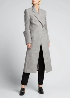 Peter Do Cuffed Fitted Midi Coat Bergdorf Goodman Coat Fashion Jackets Coats