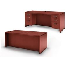 The Aberdeen Series of laminate casegoods combine fashionable aesthetics and unparalleled quality all in a package that is surprisingly affordable. Aberdeen's transitional style allows it to fit into any environment whether it be modular multi-station work areas or executive offices. Aberdeen provides exceptional abrasion and stain resistance along with technology and cable friendly components. #Desk #Credenza