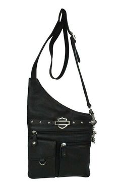 Harley-Davidson® Women's Rider Medallion Traveler Bag Leather RD5513L-BLACK