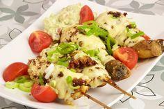 Hähnchenspieße mit Käse als Fingerfood, super zum vorbereiten für Parties, Geburtstage oder Silvester