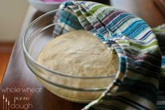 Today we're talking about whole wheat pizza dough! I know… on a Monday, but you just have to wait and see the pizza toppings I put on it! That comes later this week… but first let me tell you a little