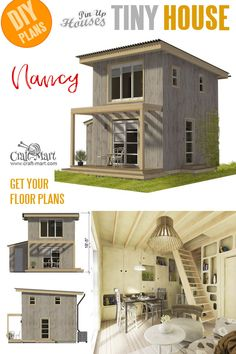 Small and tiny Home plans with cost to build - Mini House Plans Nancy Small and tiny Home plans with cost to build - Mini House Plans Nancy The Plan, How To Plan, Mini House Plans, House Floor Plans, Tiny House Plans Free, Tiny House Movement, Small Cabin Plans, Small Cabins, Casa Loft