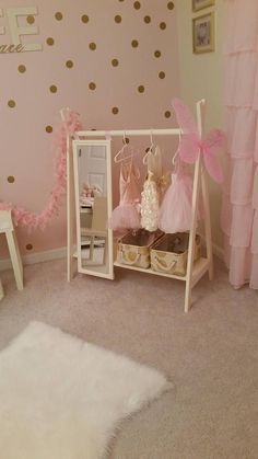 baby girl nursery room ideas 364369426101708084 - Dress Up Wardrobe Rack w/ Mirror Ivory Toddler's clothing Source by Baby Bedroom, Nursery Room, Girl Nursery, Baby Girl Bedroom Ideas, Bedroom Kids, Baby Girl Room Decor, Decor Room, Baby Decor, Girls Bedroom Ideas Paint