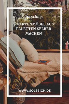 Upcycling: 8 Gartenmöbel aus Paletten selber machen Foto: Madri  #solebich #diy #paletten #palettensofa #palettenbett #garten #terasse #balkon Diy Balkon, Letter Board, Room Decor, Lettering, Madrid, Diy, Repurpose, Beautiful Life, Deco
