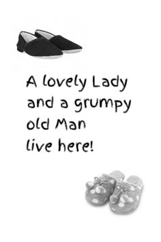 A lovely lady and a grumpy old man print  by VarietyPrints on Etsy