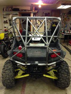 Custom Look Bolt-On Tubular Rear Bumper Orange Powdercoated fits RZR XP1000 UTV