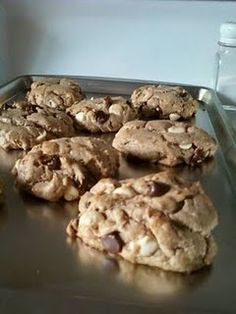 Dairy free, gluten free, sugar free, and low carb chocolate chip cookies. They taste awesome. Find the recipe here: http://deliciousgoodness.blogspot.com/2011/07/gluten-dairy-sugar-who-needs-em.html