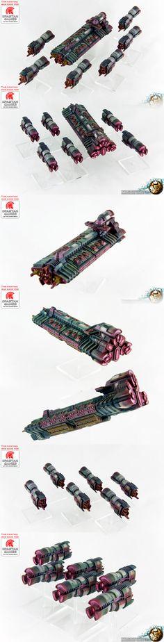 Firestorm Armada Tarakian Battleship and Cruiser