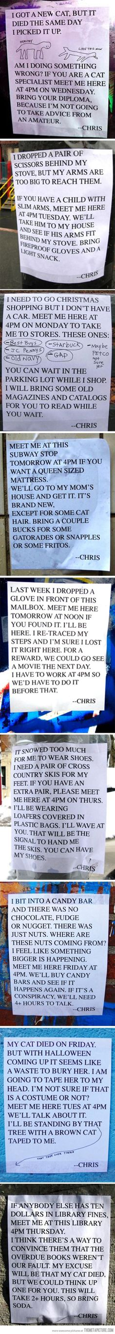 I'm pretty sure I'd like to meet Chris…I'm clearing my schedule at 4 o'clock