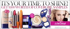 Ladies, get your FREE CoverGirl makeup samples! $100 worth of Samples for FREE! Don't let this offer walk away!