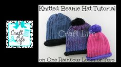 Craft Life Knitted Beanie Hat on One Rainbow Loom or Two or a Knitting Loom