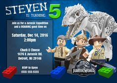 Lego Jurassic World 2 Birthday Invitation