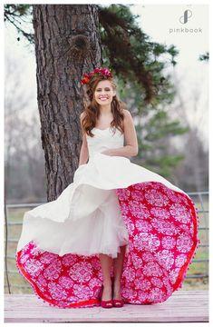 Colourful petticoat wedding dress - Pink Book Weddings