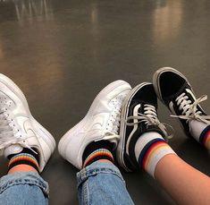 black and vans image Sock Shoes, Cute Shoes, Me Too Shoes, Aesthetic Shoes, Aesthetic Grunge, Aesthetic Vintage, Et Wallpaper, Looking For Friends, Fashion Magazin