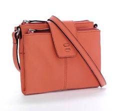 481e2d6a715d Every woman needs a great cross-body handbag like the Ellington Alex in  coral pebbled