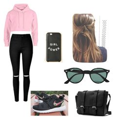 """""""Casual"""" by dudeitsaaliyah on Polyvore featuring NIKE, Ray-Ban, women's clothing, women, female, woman, misses and juniors"""