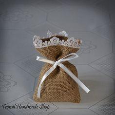 Burlap Wedding Favor Bags, Thank You Bag, or Gift Bag - SET OF 25