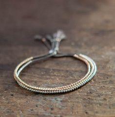 Delicate 14k solid Rose Gold beaded bracelet $148.00 each