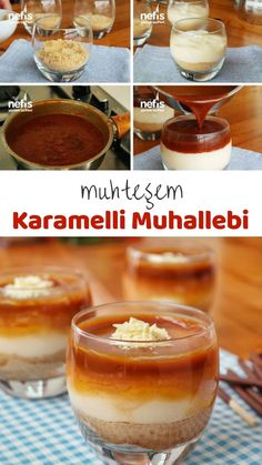 Easy and practical recipes Turkish Recipes, Clean Eating, Deserts, Beverages, Good Food, Dessert Recipes, Food And Drink, Pudding, Sweets