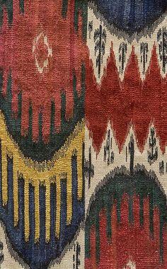 textile message ~ colorful ikat weave vest