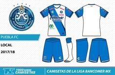 Camisetas de la Liga MX 2017-18 - Puebla