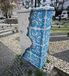 I Create Ceramic Tile Illusions On Electrical Boxes And Buildings To Remind People Of Portuguese History | Bored Panda