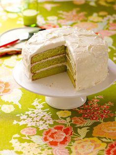 Good Food from Trisha Yearwood - Key Lime Cake...lime jello, flour, sugar, eggs, veg oil, oj, lemon juice, Key Lime juice.... http://www.redbookmag.com/recipes-home/tips-advice/trisha-yearwood-recipes-5