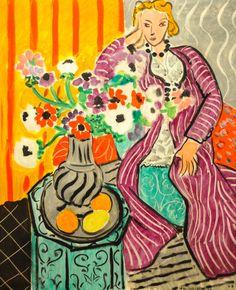 Henri Matisse 1869-1964 Purple Robe and Anemones, 1937 at Baltimore Museum of Art Baltimore MD