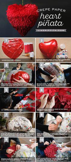 Crepe Paper Heart Piñata