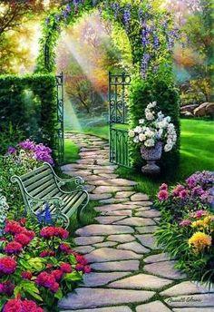 ✿Flowers at the window & door✿ Lugar soñado para descansar. by conolel
